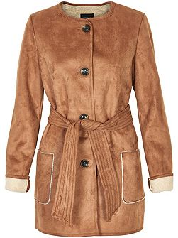 Reversible Faux Sherling Coat