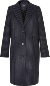 Soaked in Luxury Pinstriped Coat