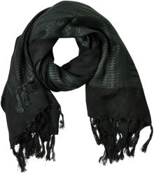 Soaked in Luxury Patterned Scarf With Fringes