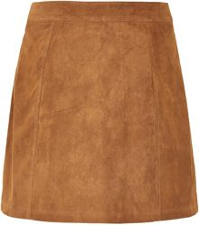 Soaked in Luxury Suede A-line Skirt