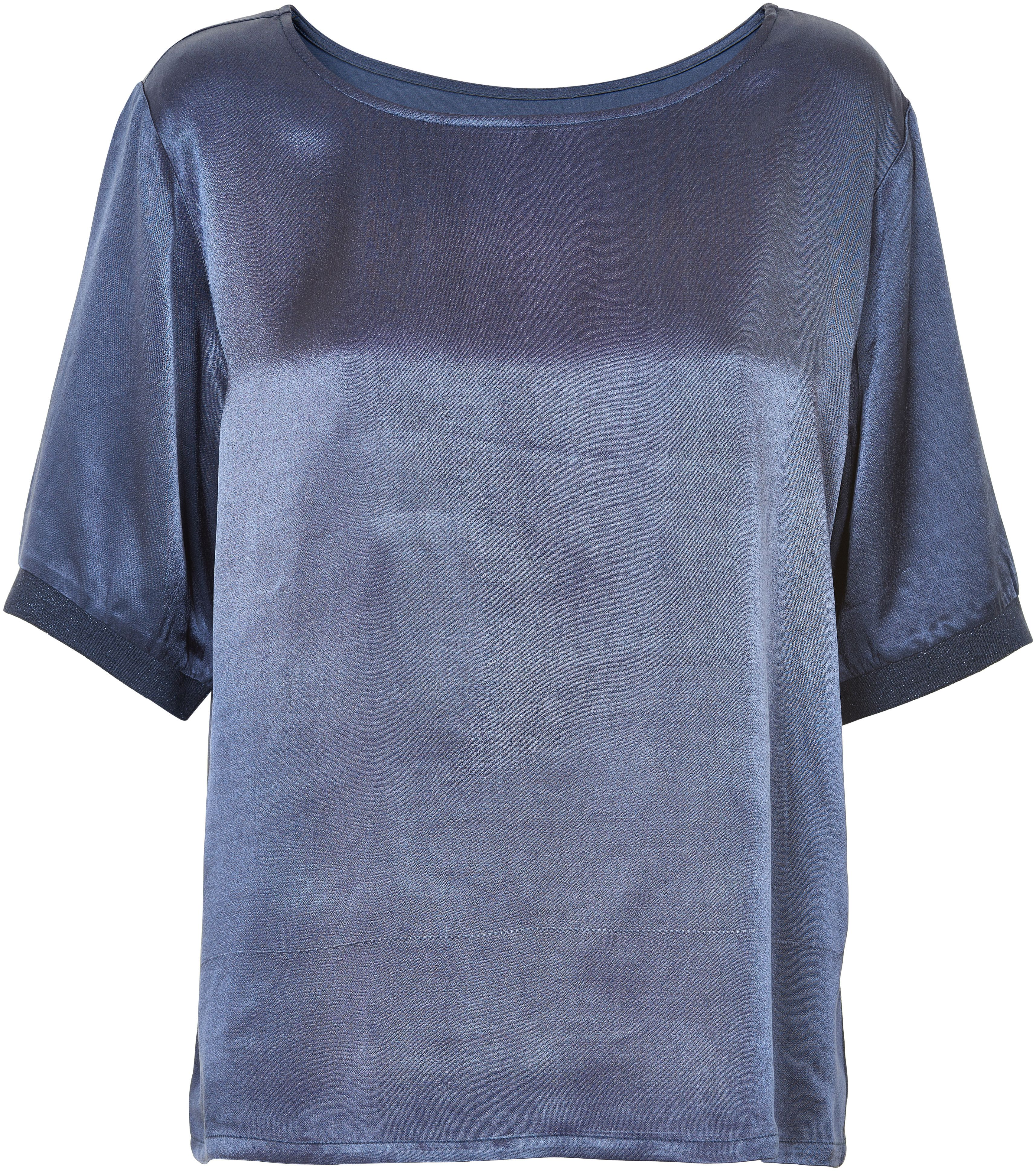 Soaked in Luxury Soaked in Luxury Metallic Oversized Top, Navy