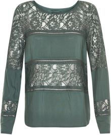 Soaked in Luxury Paneled Lace Top