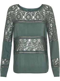 Paneled Lace Top