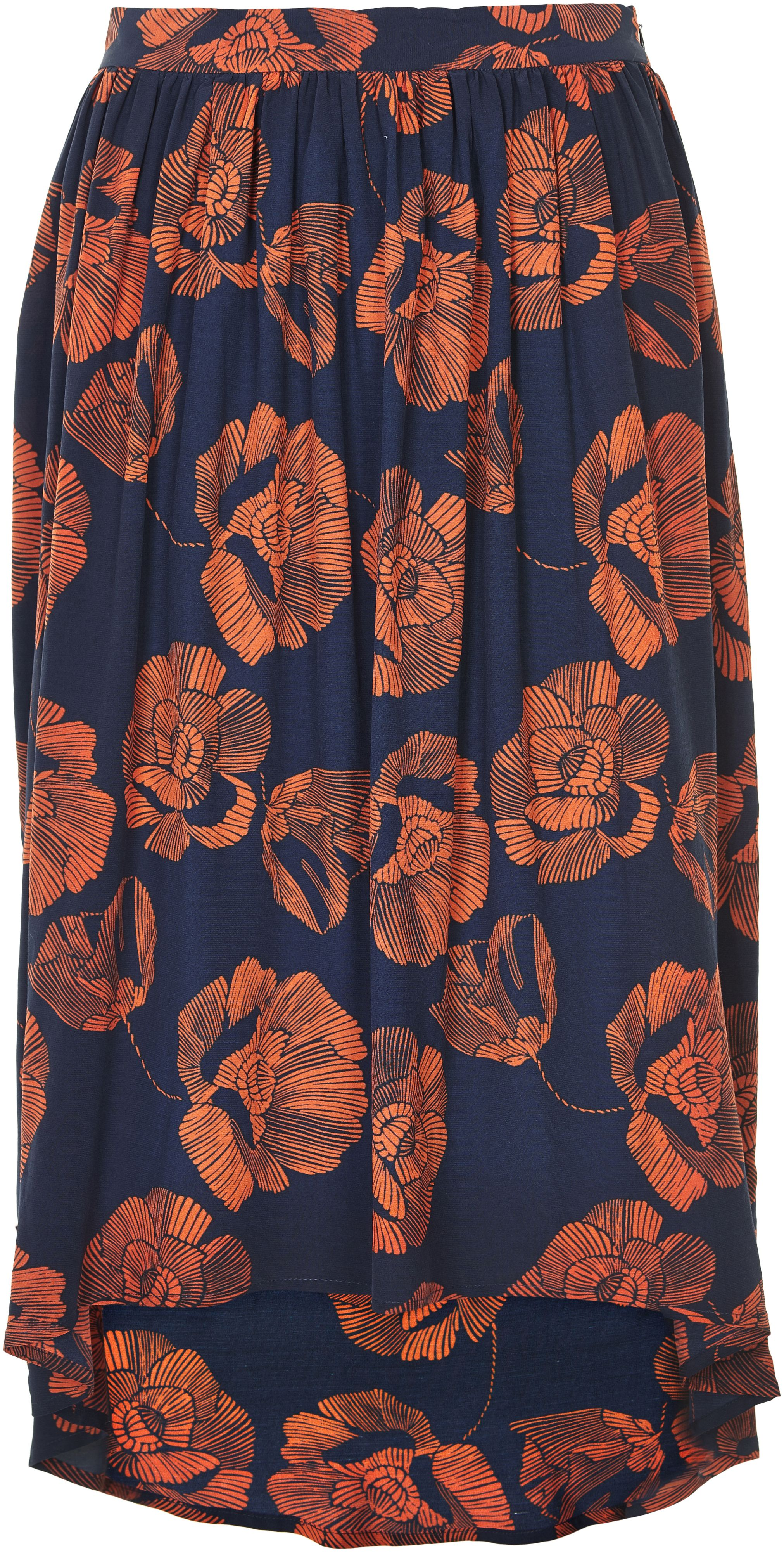 Soaked in Luxury Soaked in Luxury Floral Print Midi Skirt, Multi-Coloured