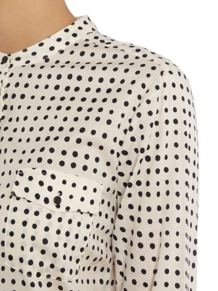 Part Two Shirt cut from a light cotton and features dots