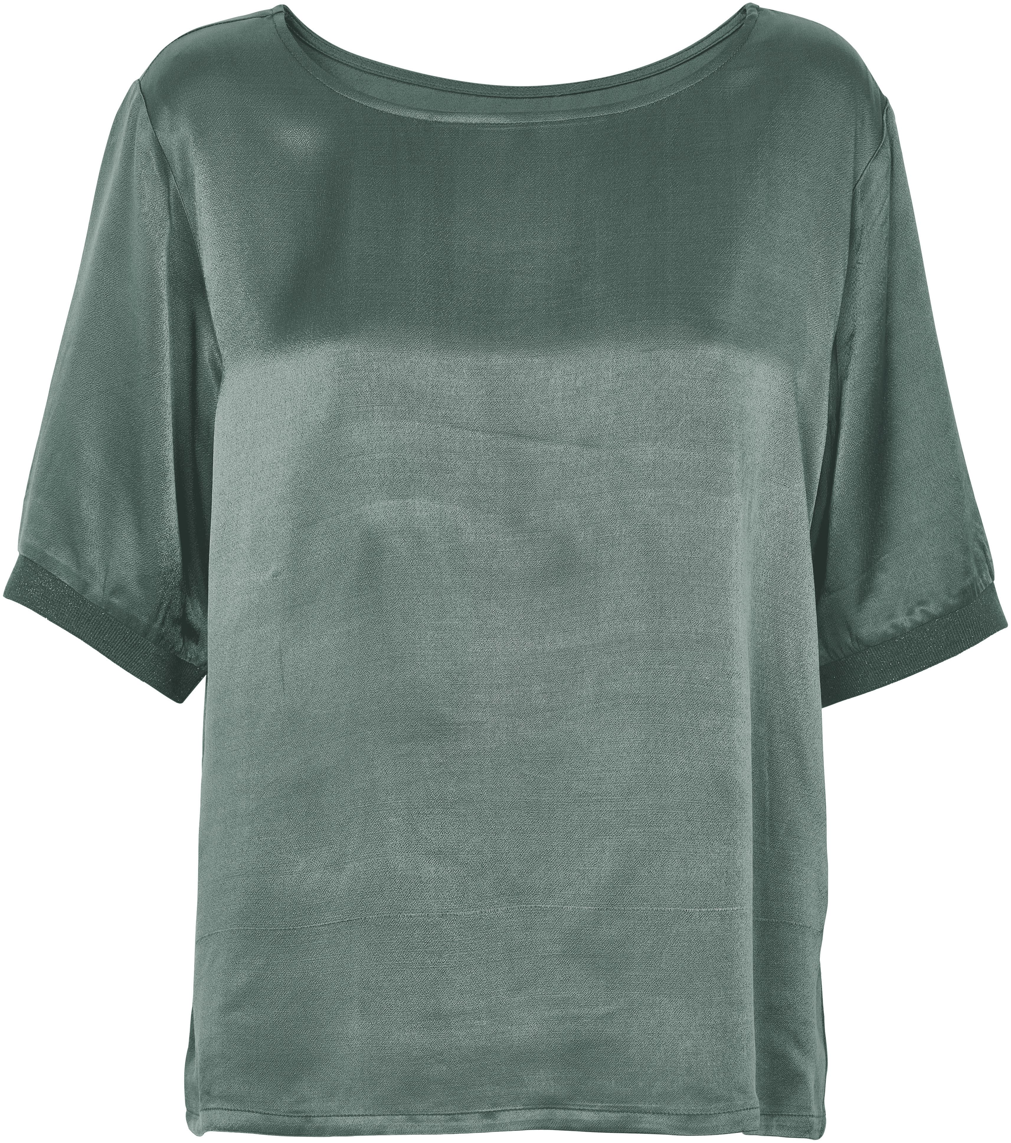 Soaked in Luxury Soaked in Luxury Metallic Oversized Top, Green
