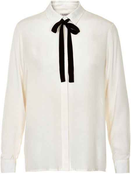 Soaked in Luxury Tie Ribbon Shirt