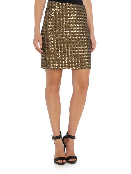 Part Two Fashionbale skirt features squared sequins