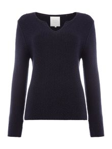 Part Two Casual pullover in structured cotton