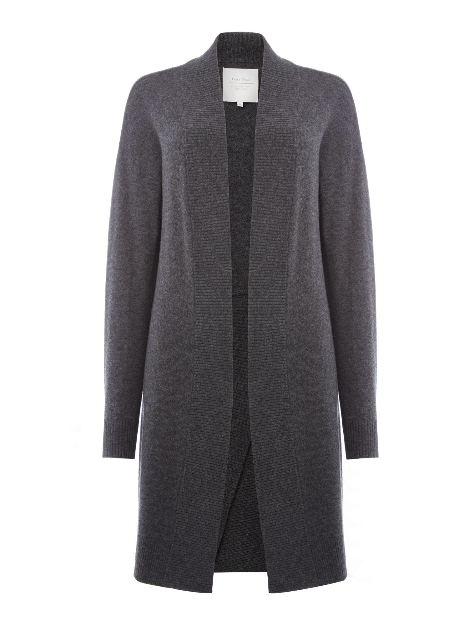 Part Two Part Two Simple yet stylish cardigan crafted from a soft c, Grey Marl