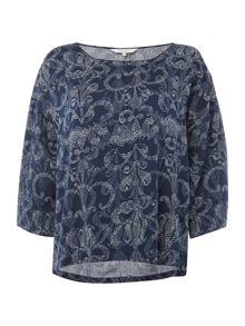 Part Two Feminine bluse with a detailed print