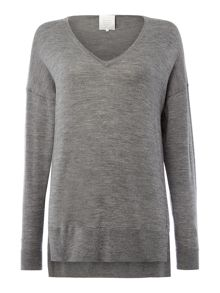 Part Two Soft merino wool pullover with drop shoulders