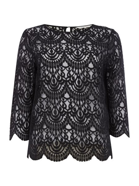 Part Two Feminine blouse in soft lace fabric with cropped