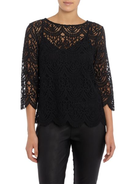 Part Two Feminine blouse in soft lace fabric