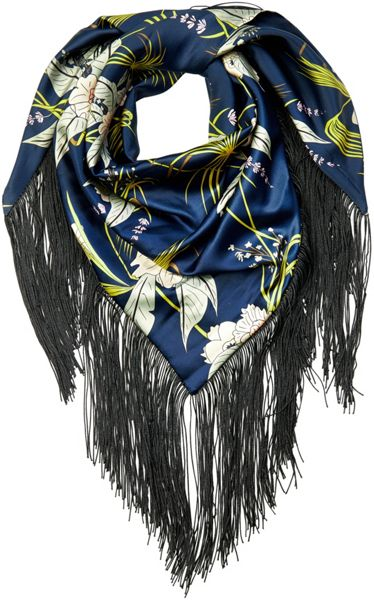 Soaked in Luxury Floral Print Scarf With Fringing