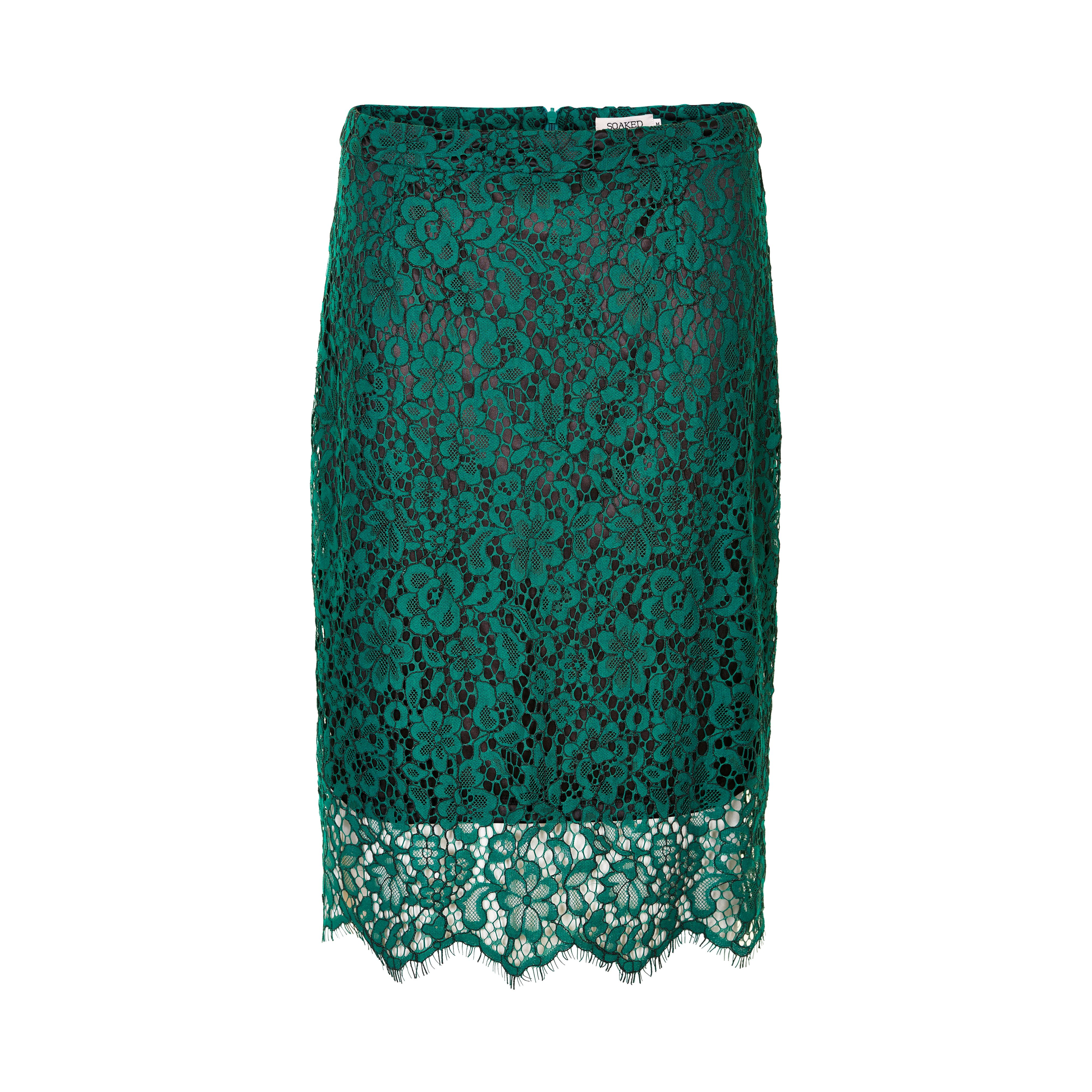 Soaked in Luxury Soaked in Luxury Ava Lace Skirt, Green