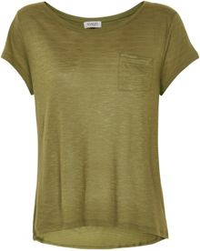 Soaked in Luxury Cotton Blend Pocket T-shirt