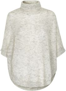 Soaked in Luxury Roll Neck Mohair Blend Poncho