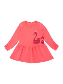 Girls jersey swan dress