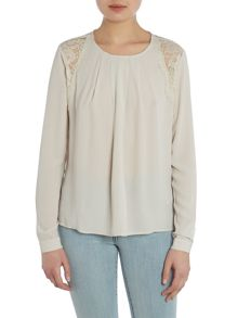Front pleat blouse