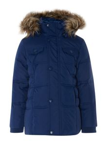 Girl Down filled hooded jacket