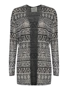 Long Sleeved Lightweight Printed Cardigan