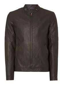 Jack & Jones Distressed Biker Jacket