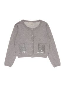 Girls Sequin pocket cardigan