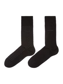 2 Pack Flat Knit Dot Socks