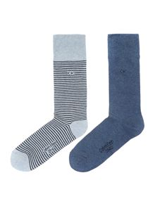 2 Pack Flat Knit Stripe