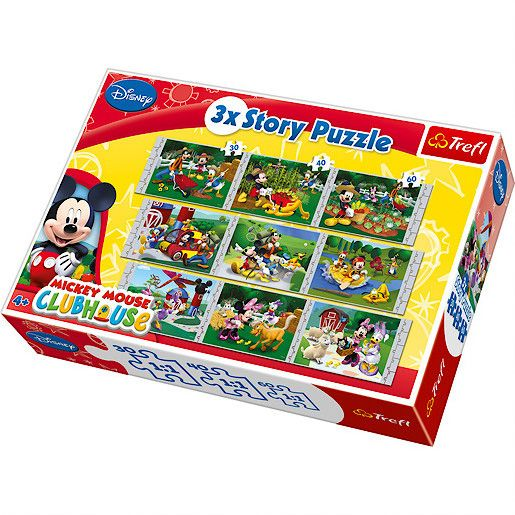 Clubhouse 9 jigsaw puzzle sets - 30/40/60 pieces