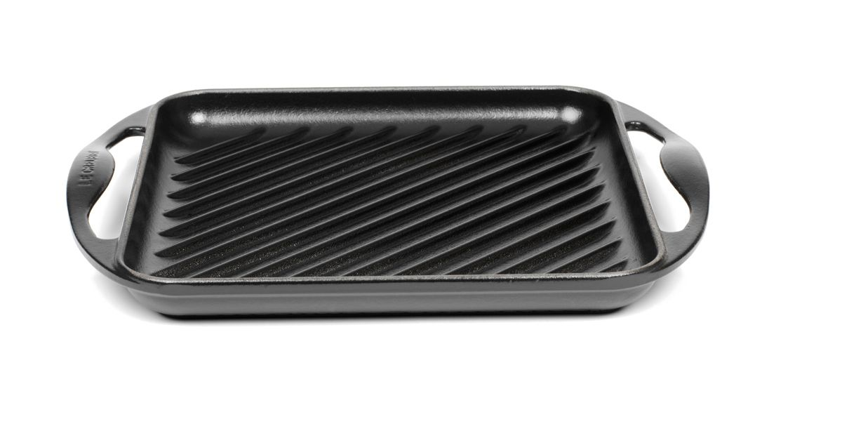 Satin black square grill 24cm