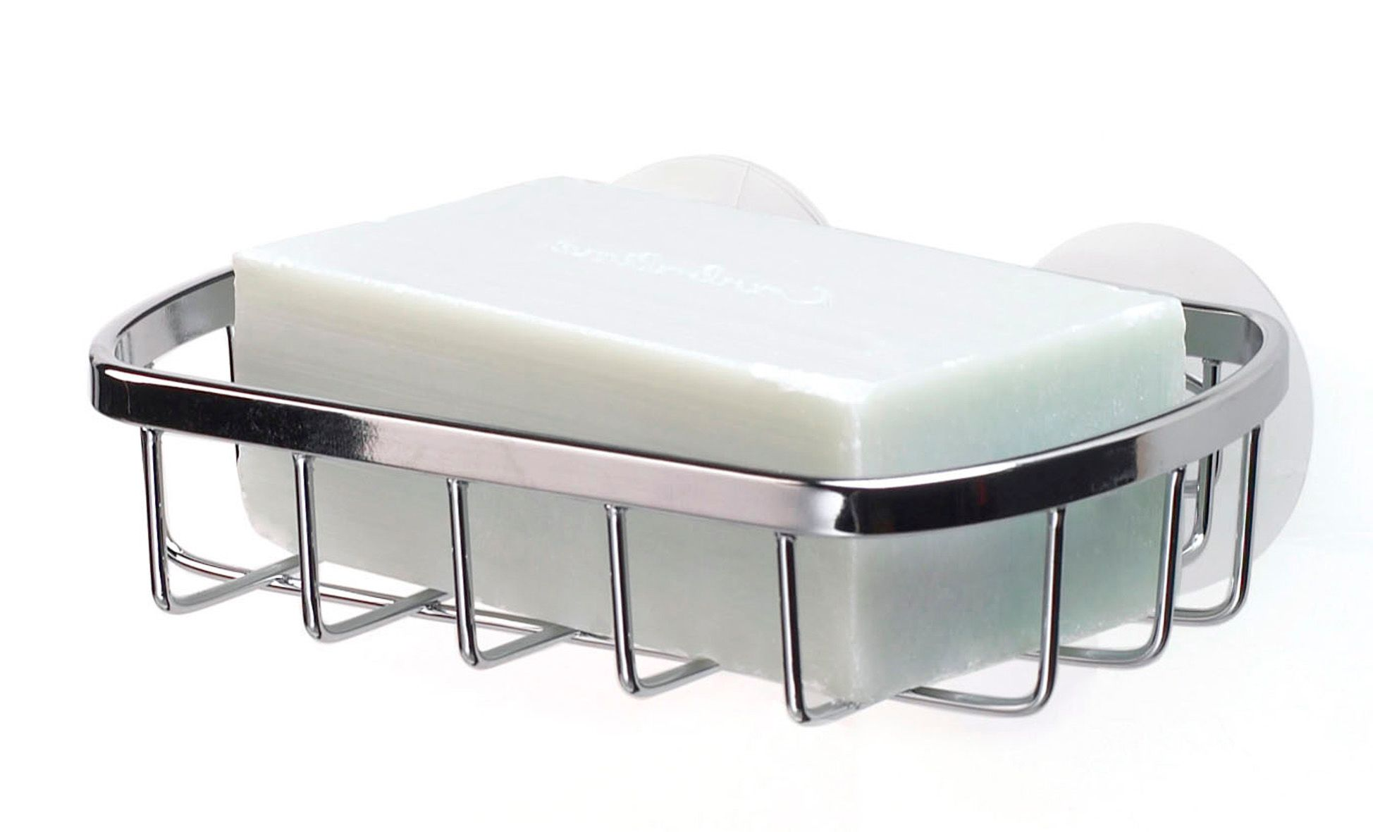 Stainless steel suction soap dish