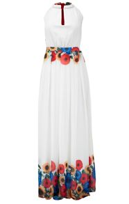MAIOCCI Collection Backless Silk Maxi Dress