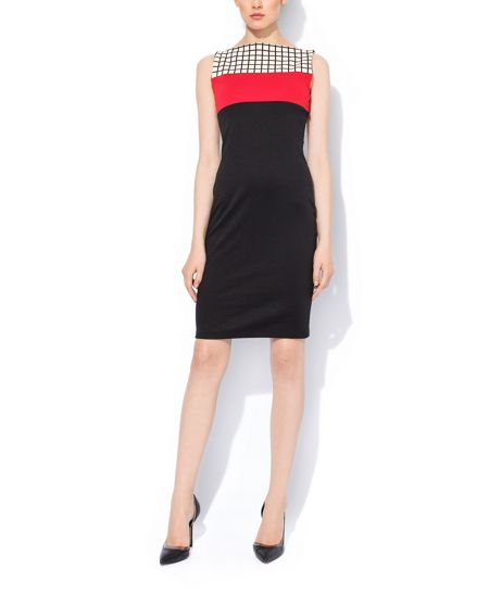 MAIOCCI Collection Bodycon Contrast Dress