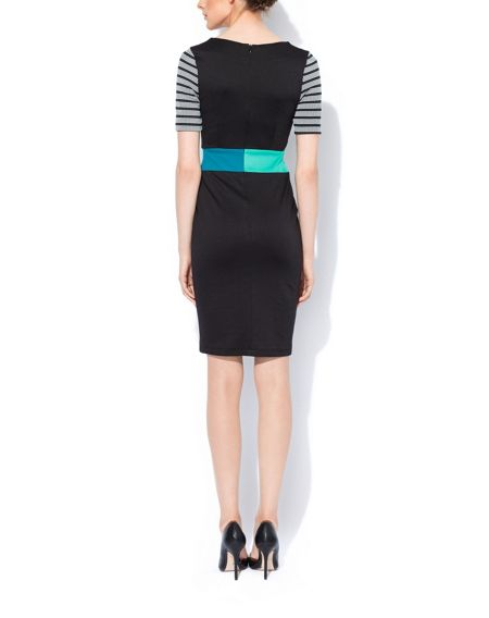 MAIOCCI Collection Stipey Contrast Classic Dress