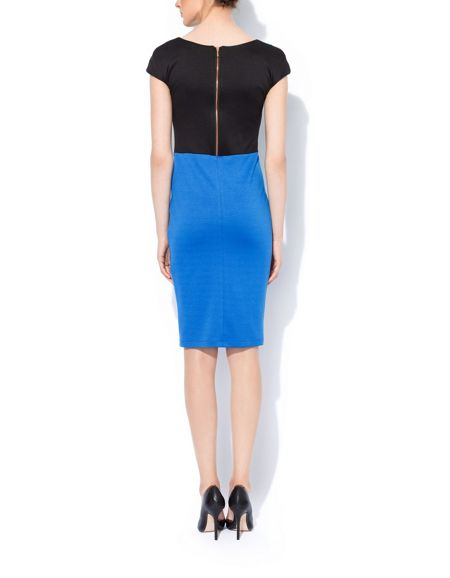 MAIOCCI Collection Bodycon Colour Block Dress