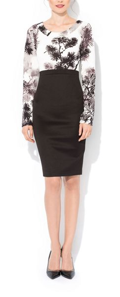 MAIOCCI Collection Printed Longsleeve Bodycon Dress