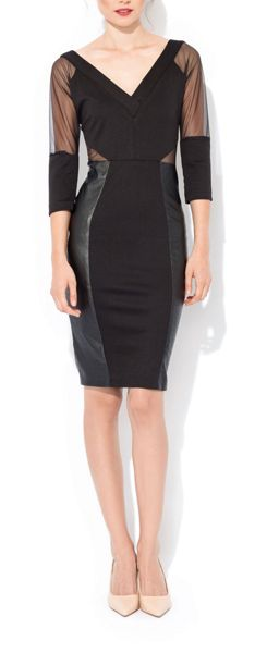 MAIOCCI Collection Bodycon V neck Dress