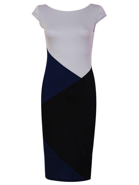MAIOCCI Collection Bodycon Geometric Detail Dress
