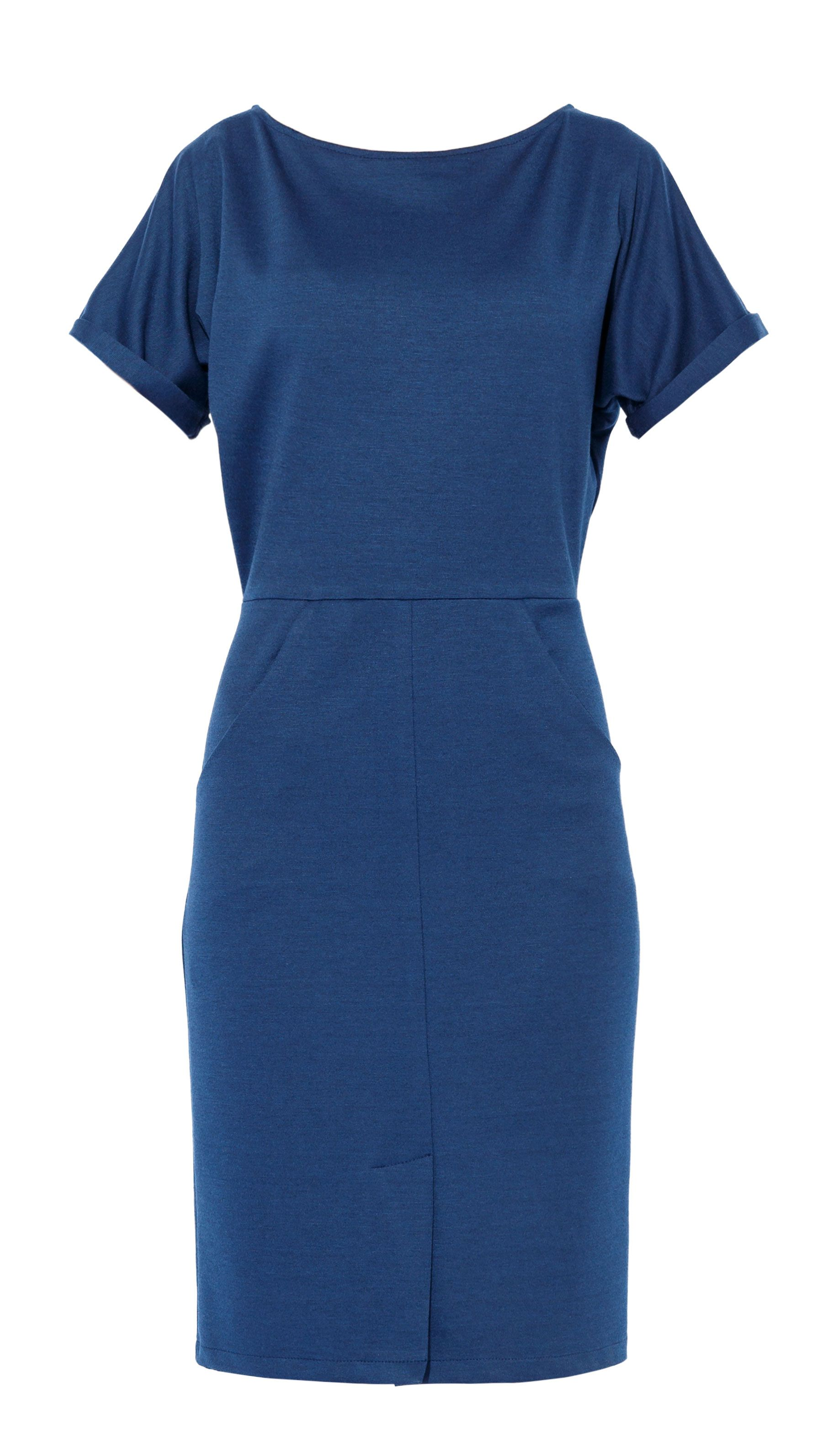 MAIOCCI Collection MAIOCCI Collection Fitted Day Dress, Blue