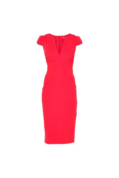 MAIOCCI Collection Bodycon V-Neck Dress with Pockets