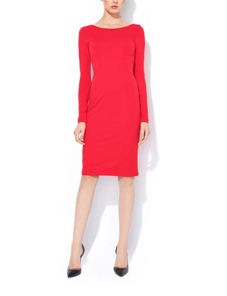 MAIOCCI Collection Longsleeve Bodycon Dress with Zip Detail