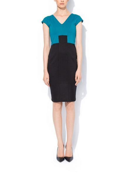 MAIOCCI Collection Contrast Bodycon Dress