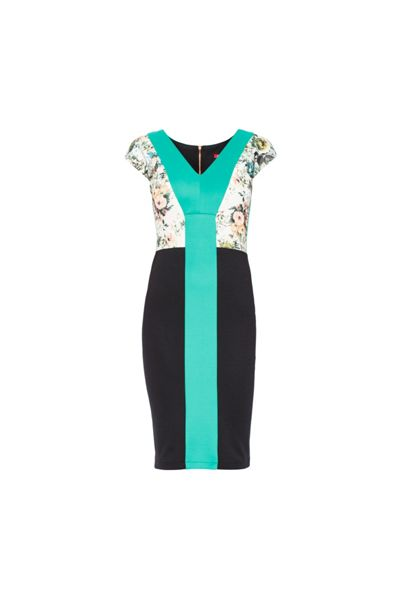 MAIOCCI Collection Flower Printed Bodycon Dress