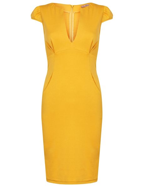 MAIOCCI Collection V Neck Dress with oversized pockets