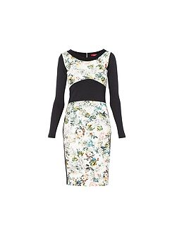 Longsleeve Bodycon Floral Dress