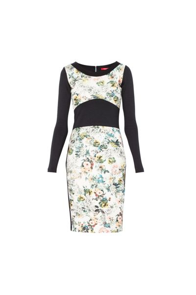 MAIOCCI Collection Longsleeve Bodycon Floral Dress