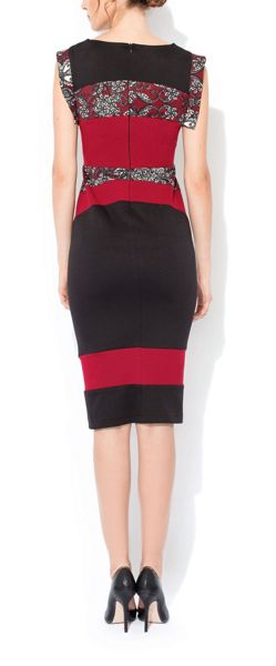 MAIOCCI Collection Sleeveless Bodycon Contrast Dress