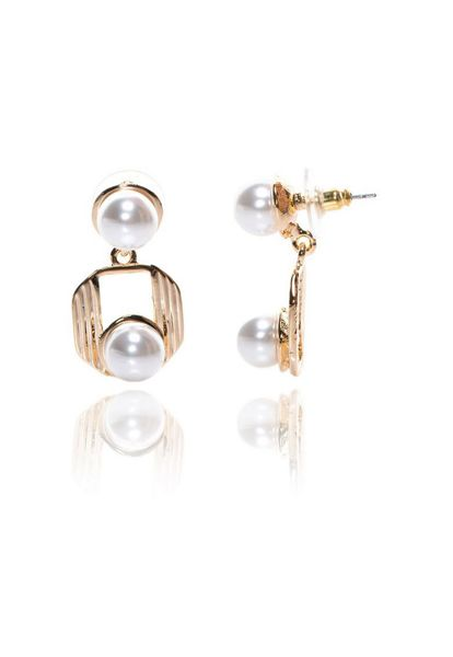 MAIOCCI Collection Pearl drop detailed earring